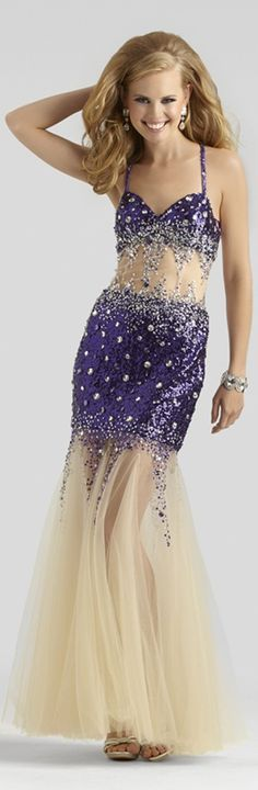 Sheer Clarisse #Prom #Gown