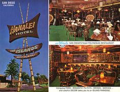 vintage postcard from the Hanalei Hotel in San Diego's Mission Valley, sadly remodeled years ago.