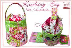 Nähkästchen & -körbe - Wollkorb, Handarbeitskorb *Knooking-Bag* - ein Designerstück von dietapfereschneiderin bei DaWanda