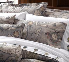 The world fits on top of a bed with this luxury bedding by legacy love this antique map bedding not really kid oriented but it could work gumiabroncs Gallery