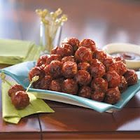 Gluten Free Vegetarian BBQ Meatballs. (also possible to do with gluten, but the author of the post chose to use GF ingredients.)