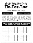 Whole Step, Half Step Tic-Tac-Toe and many other ideas in post and comments