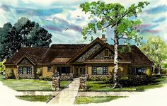 Mountain Home with Outdoor Living Space - 12929KN | Craftsman, Mountain, Ranch, 1st Floor Master Suite, CAD Available, PDF, Corner Lot | Architectural Designs