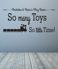 Look what I found on #zulily! 'So Many Toys' Personalized Decal #zulilyfinds