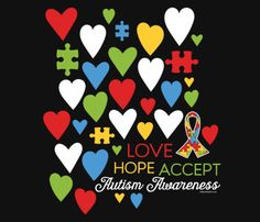 Love Hope Accept Autism Awareness T-Shirts | WorkPlacePro