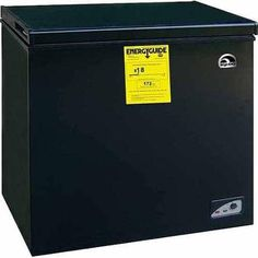 Igloo cu ft Chest Freezer, Black, Adjustable thermostat Energy-saving design Deep cooling and quick freezing ** Be sure to check out this awesome product. Best Appliances, Black Appliances, Kitchen Appliances, Kitchen Gadgets, Chest Freezer, Appliance Sale, Compact Refrigerator, Save Energy, Cool Kitchens