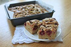 Nutmegs, seven: Raspberry, white chocolate, pistachio and cardamom blondies