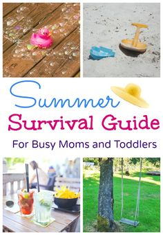 Kids activities, crafts, tips and round up of play ideas. summer survival guide for busy moms and toddlers wordsnneedles