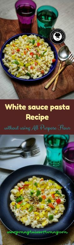 White sauce pasta is much loved dish across the globe and it's kid's favorite. Making white sauce that is maida free, was a welcome change as usually we avoid including maida in our diet. Would you like to know the secret ingredient used to make white sauce? Read the full recipe here. Vegetarian Platter, Best Vegetarian Recipes, Healthy Crockpot Recipes, Delicious Recipes, Easy Dinner Recipes, Pasta Recipes, Sauce Recipes, White Sauce Pasta, International Recipes
