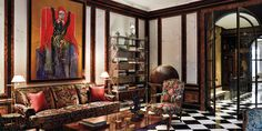 The painting in Molyneux's study is by Francis Bacon.