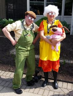 Eustace and Muriel from Courage the Cowardly Dog 18 Costume Ideas For Couples Who Refuse To Grow Up