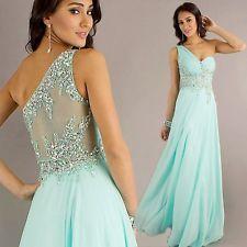 Pretty Chiffon Evening Formal Party Ball Gown Prom Bridesmaid Long Wedding Dress