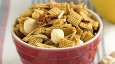 With the chowder seasonings and small crackers that look like clams, this is a snack mix for lovers of tomato-based clam chowder—and residents of Rhode Island.