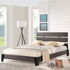 Zoe Full Vinyl Bed in Brown