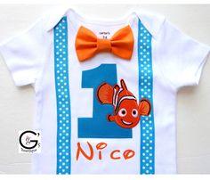 Encontrar Nemo cumpleaños Smash Cake traje fiesta foto Prop