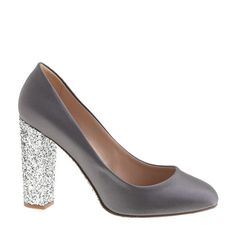 Collection Etta satin glitter-sole pumps//