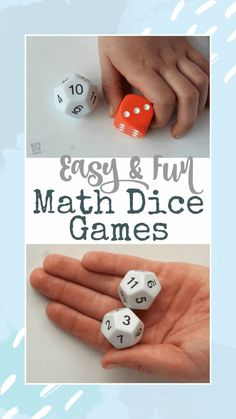Looking for a new, but super easy and low prep way to practice math facts with your kids? Grab a set of dice and you're ready to play! Playing math dice games can help kids practice in a way that is fun, and less intimidating. Learn 6 different variations in this post.  #mathgames #mathdicegames #homeschool Easy Math Games, Math Card Games, Kindergarten Math Games, Group Games For Kids, Math Games For Kids, Outdoor Games For Kids, Classroom Games, Kids Party Games, Dice Games