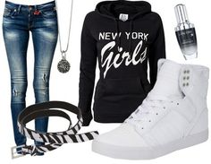 Black and white - Casual Outfit - stylefruits.nl