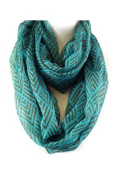 Infinity Scarf: Love the pattern & color
