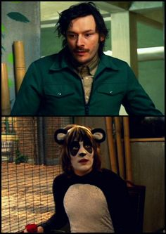Noel Fielding so cute as a panda Mighty Mighty, The Mighty Boosh, Noel Fielding, Julian Barratt, British Humor, Through Time And Space, Great Hair, Comedians, Favorite Tv Shows