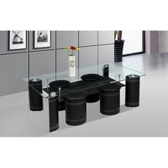 Found it at Wayfair - Coffee Table with Nested Stools