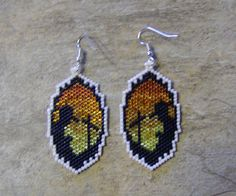 Farewell Earrings Hand Made Seed Beaded by wolflady on Etsy