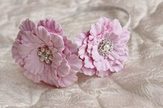 Flower headband clay craft by deco Hair alice by CoolClayFlowers, $30.00