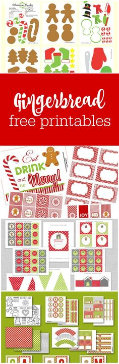 Gingerbread party free printables - includes full party collections - curated by The Party Teacher | http://thepartyteacher.com/2012/12/07/freebie-friday-gingerbread-party-printables/