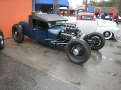 Ford rod with Cadillac engine