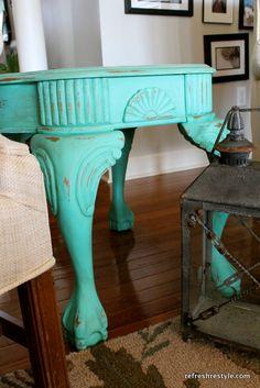End Table Makeover DIY furniture refashion