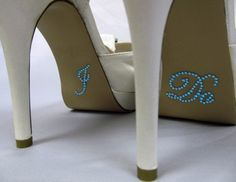 I Do Shoe Sticker for Bride in Blue Crystal by LuxeBrands on Etsy, $3.99