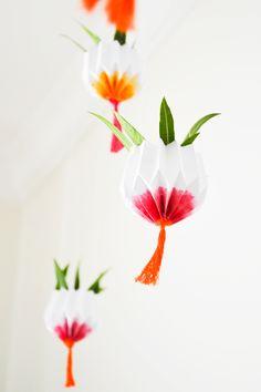 DIY Origami Hanging Garden