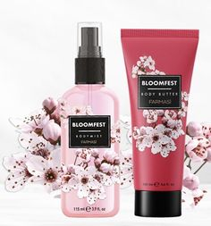 Sweet Peach, Cherry Blossom, Mists, Natural Beauty, Lotion, Perfume Bottles, Delicate, Pearl, Tips