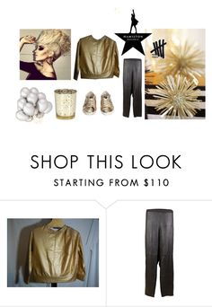 """Gold Sweatshirt"" by folioboutique on Polyvore featuring Kate Spade, Eileen Fisher, Golden Goose and David Tutera"