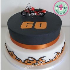 Harley Davidson Birthday cake Harley Davidson Birthday, Harley Davidson Cake, Birthday Cake, Cakes, Baking, Desserts, Food, Tailgate Desserts, Deserts