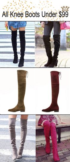 High quality and warm knee boots design from Choies.com! All these boots are under $99,you will feel very comfortable when wearing them!