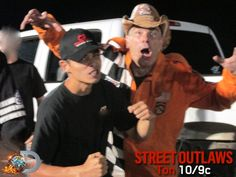 Street Outlaws star AZN, aka Jeff Bennett, has been Farmtruck's barker for years which means he does the smack talking and Farmtruck, Azn Street Outlaws, Big Chief Street Outlaws, Street Outlaws Tv Show, Farm Trucks, Chevy Trucks, Murder Nova, Outlaw Star, Street Racing Cars