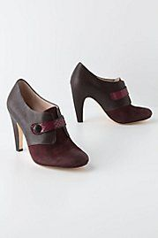 Button Tab Heels (anthropologie)  Wine! in shoe form!