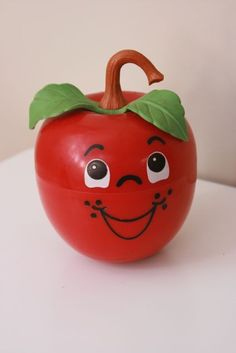 Vintage Fisher Price Happy Apple-  One of my favorite baby toys, still at Grandmothers house to this day.