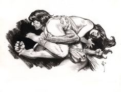 Conan by Mark Schultz. (Was there ever a time when this style of courtship worked?)
