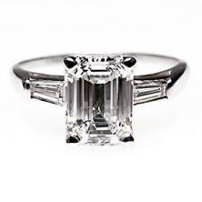 Emerald cut #engagement #ring