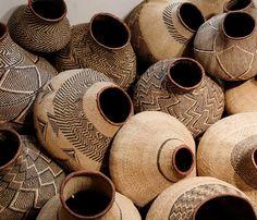 Africa | BaTonga Nongo (pot) baskets, Zimbabwe. | www.designafrika.co.za | Image ©Afrikani