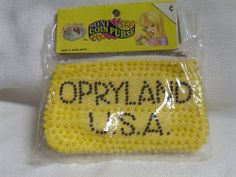 Vintage 60s Coin Purse Opryland USA Candy Beads Plastic Deadstock Hong Kong MOD