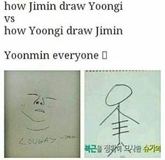 Jimins white shirt design in fire is really just his drawing of Yoongi if you look close enough