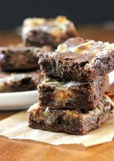 Chocolate Rolo Bars (these are extra chewy, gooey, and delicious!) from Bakerita.com