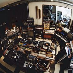 A well stoked recording studio with decks a plenty