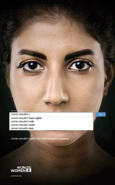 Finding sexism in the world is as easy as typing a few words into the world's largest search engine. A campaign for UN Women shows how gender preju. Creative Advertising, Logos Retro, Vintage Logos, Gender Inequality, Gender Stereotypes, Commercial Ads, Advertising Campaign, Social Advertising, Domestic Violence