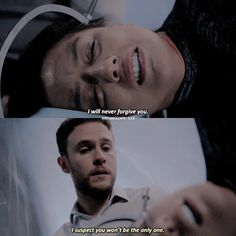 FITZ THIS ISN'T YOU it may be a part of you but you don't have to be like this, you get to choose. Stand up to your dark side, don't let it take over again.