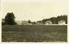 Buskerud fylke Hurum kommune RØDTANGEN. Næroversikt med hotellet og et par andre hus Utg Haraldsens Kunstforlag. Postgått 1927