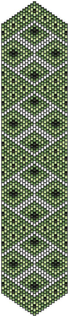 pencio - pattern peyote jardin française